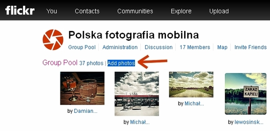 Polska fotografia mobilna - add photos