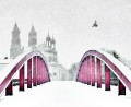 Red bridge (winter version), fot. Michał Koralewski